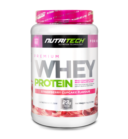 Nutritech Premium Whey Protein for Her Strawberry Cupcake