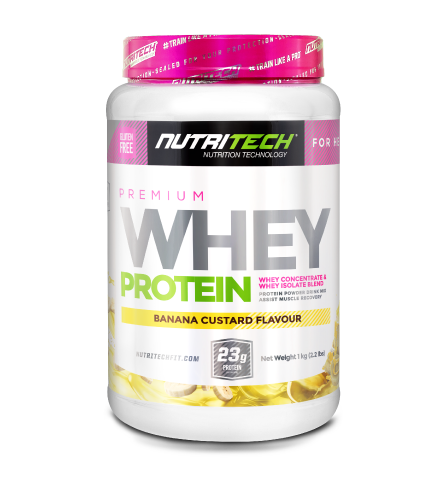 Nutritech Premium Whey Protein for Her Banana Custard
