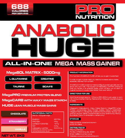 Pro Nutrition Anabolic Huge