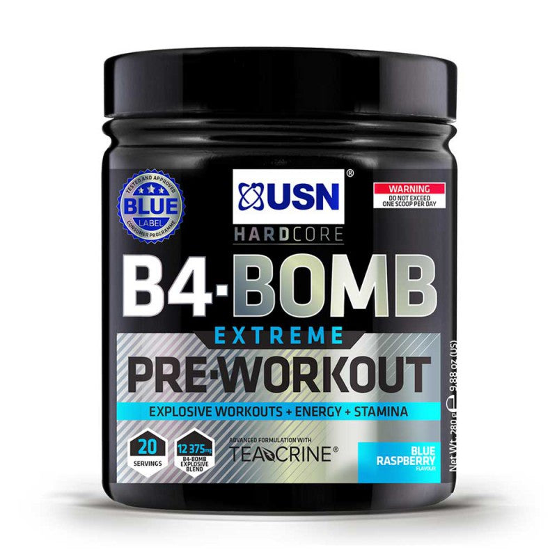 USN B4-Bomb Extreme Pre-Workout Blue Raspberry