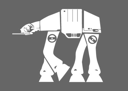 Star Wars AT-AT Walker Silhouette for Nursery/Boys Room - 5x7 and up