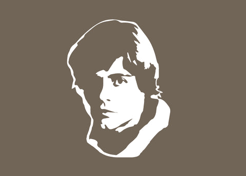 Star Wars Luke Skywalker Silhouette for Nursery/Boys Room - 5x7 and up