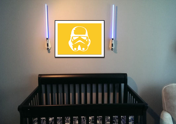 Star Wars Stormtrooper Silhouette for Nursery/Boys Room - 5x7 and up