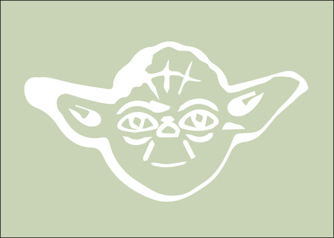 Star Wars Yoda Silhouette for Nursery/Boys Room - 5x7 and up