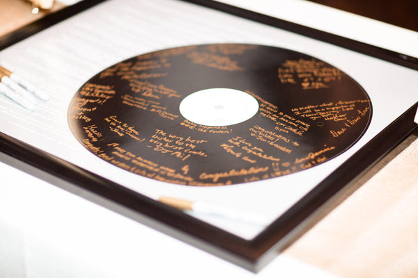 YOUR Lyrics Realistic Record Wedding Song Guest Book Alternatives /First Dance Lyrics / Couples Shower Guestbook/Record Guest Book -20x24