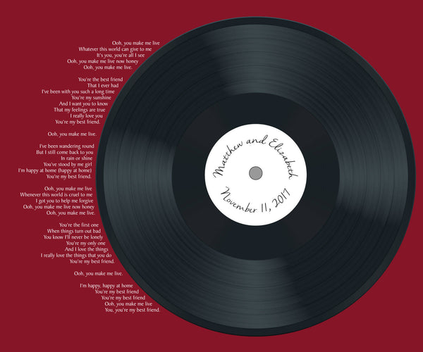 YOUR Lyrics Realistic Record Wedding Song Guest Book Alternative/First Dance Lyrics / Couples Shower Guestbook/Record Guest Book -20x24