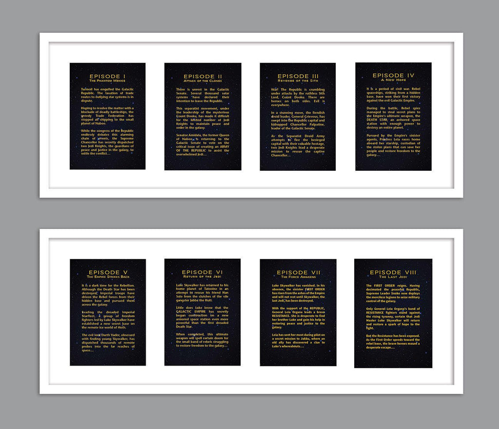 All 8 Star Wars Movies Each Episode Opening Crawl Text For Nursery B Jena Glantz Design Creatives