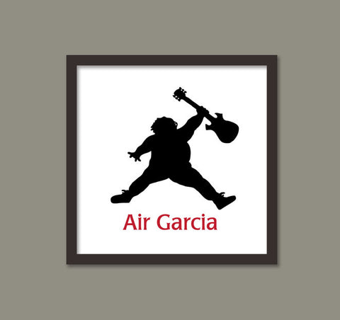 Air Garcia/Jerry Garcia/Grateful Dead/Silhouette Poster Print -  8x10, 10x10, 11x14, 12x12, and 12x16