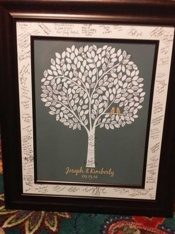 Alternative Wedding Tree Guest Book/ Bridal Shower Gift/Guest Book Wedding Tree/Personalized Wedding Poster - 20x24 - 220 Signatures