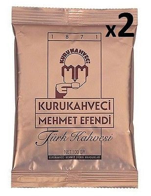 Kurukahveci Mehmet Efendi Ground Turkish Coffee (Greek Coffee) - 6g 100g 250g 500g Options - Kurukahveci Mehmet Efendi - Pazarska