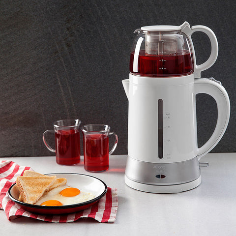 King Teamax Electric Tea Maker-White - King - Pazarska