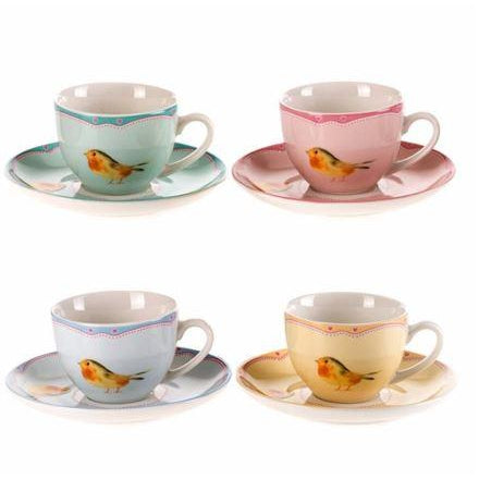 Pasabahce Sparrow New Bone China Turkish Coffee Cup Set - Pasabahce - Pazarska