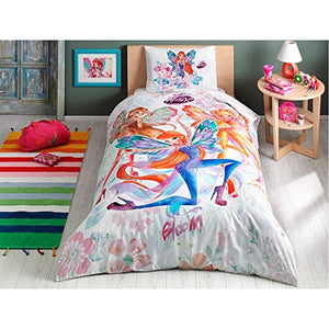 TAC Winx Wow Bloom Licensed Quilt/Duvet Cover Set for Kids - 3 pcs