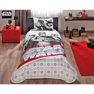 TAC Star Wars Single/Twin 100% Cotton Bedding Bedspread/Coverlet Set - 3 Pcs