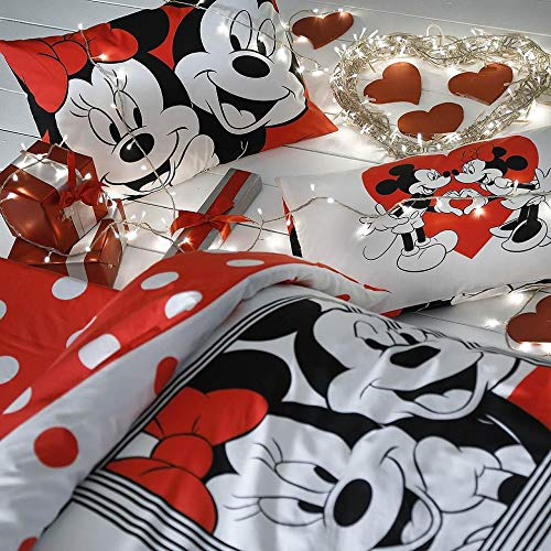 TAC Mickey Minnie Mouse Dotty Love Bedding Set Double Queen Size
