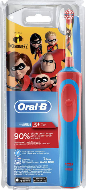 Oral-B Vitality Stages Power Electric Rechargeable Toothbrush Incredibles 2 for Kids 3+ - Oral-B - Pazarska