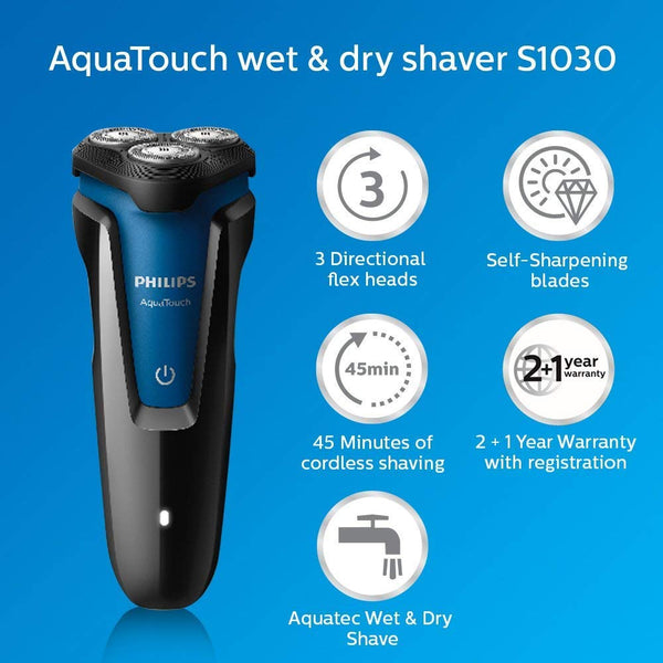 Philips S1030/04 Wet and Dry Electric Shaver - PHILIPS - Pazarska