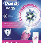 Oral-B Pro 750 Electric Toothbrush - Pink - Oral-B - Pazarska