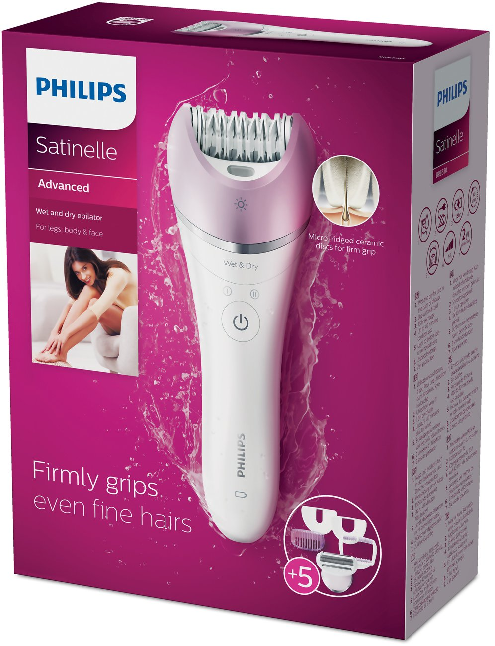 Philips BRE630 Satinelle Advanced Wet and Dry Epilator - Philips Norelco - Pazarska