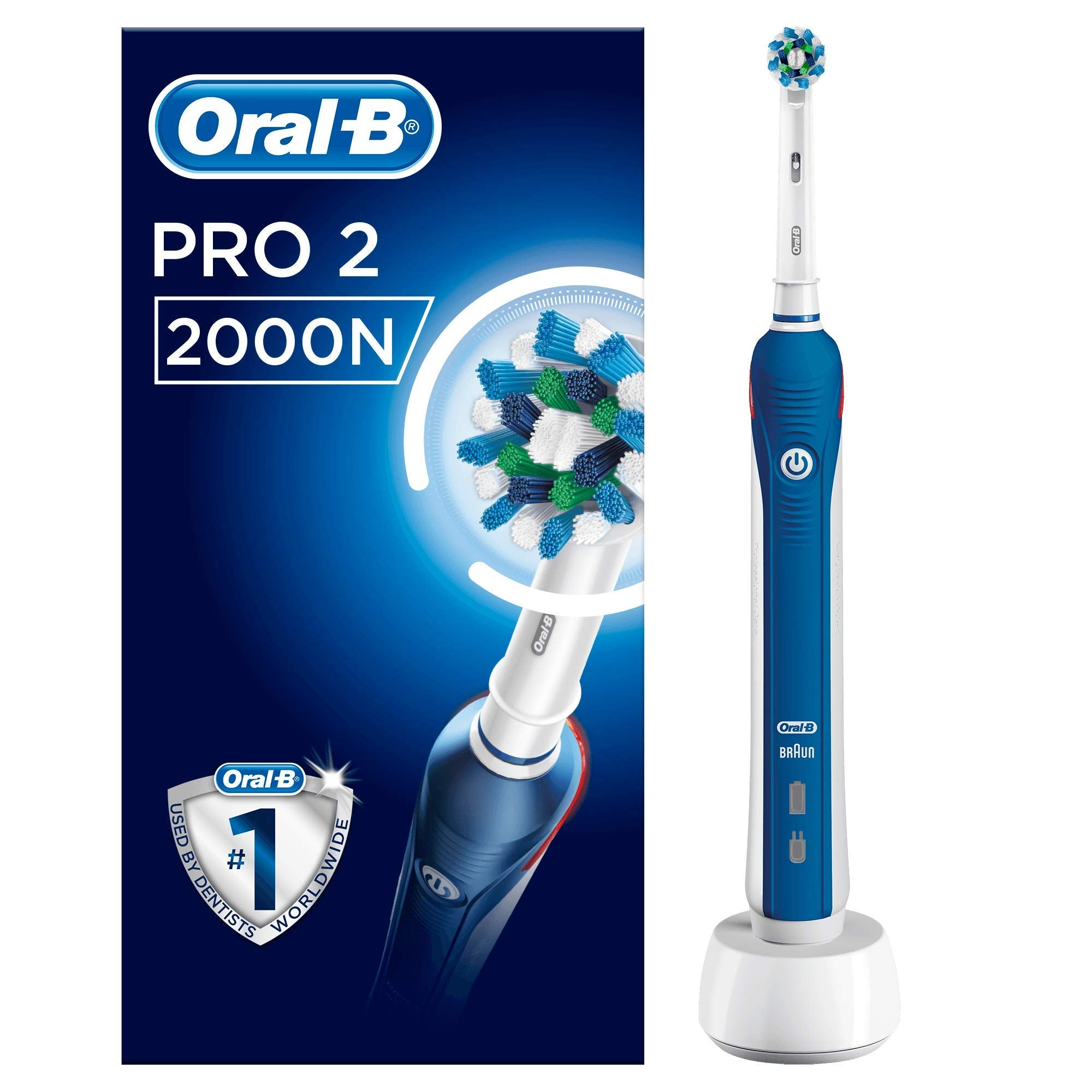 Oral-B Pro 2 2000N Cross Action Rechargable Electric Toothbrush - Oral-B - Pazarska
