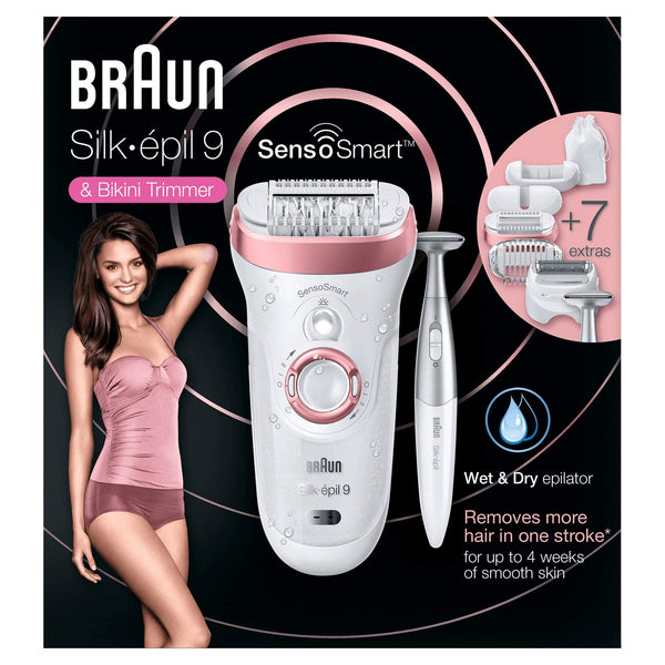 Braun Silk Epil 9-890 SensoSmart Epilator and Bikini Trimmer - Braun - Pazarska