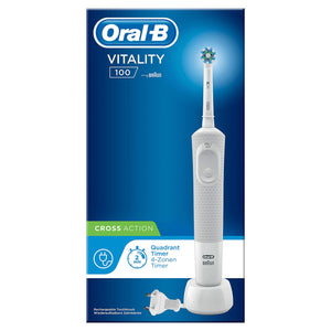Oral-B Vitality 100 Cross Action Electric Toothbrush - White - Braun - Pazarska