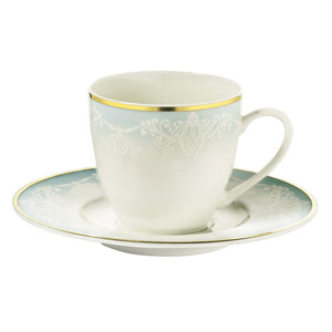 Kutahya Porcelain Bonnet Calipso 927914 Pattern Turkish Coffee Cup Set - Kutahya Porcelain - Pazarska