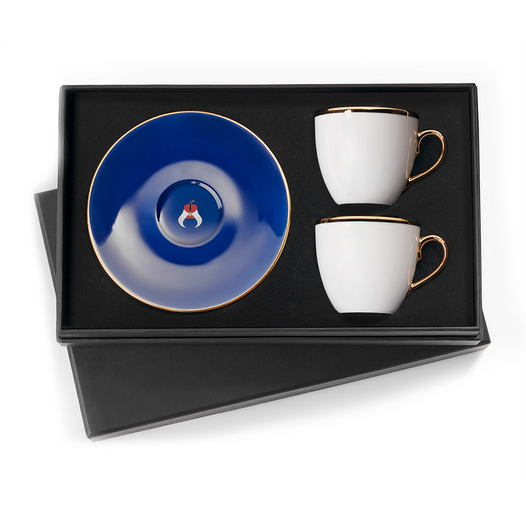 Selamlique Classic Blue Turkish Coffee Cups Set of 2 - Selamlique - Pazarska