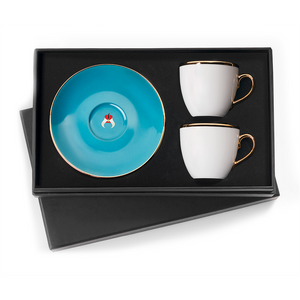 Selamlique Classic Turquoise Turkish Coffee Cups Set of 2 - Selamlique - Pazarska