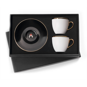 Selamlique Classic Black Turkish Coffee Cups Set of 2 - Selamlique - Pazarska