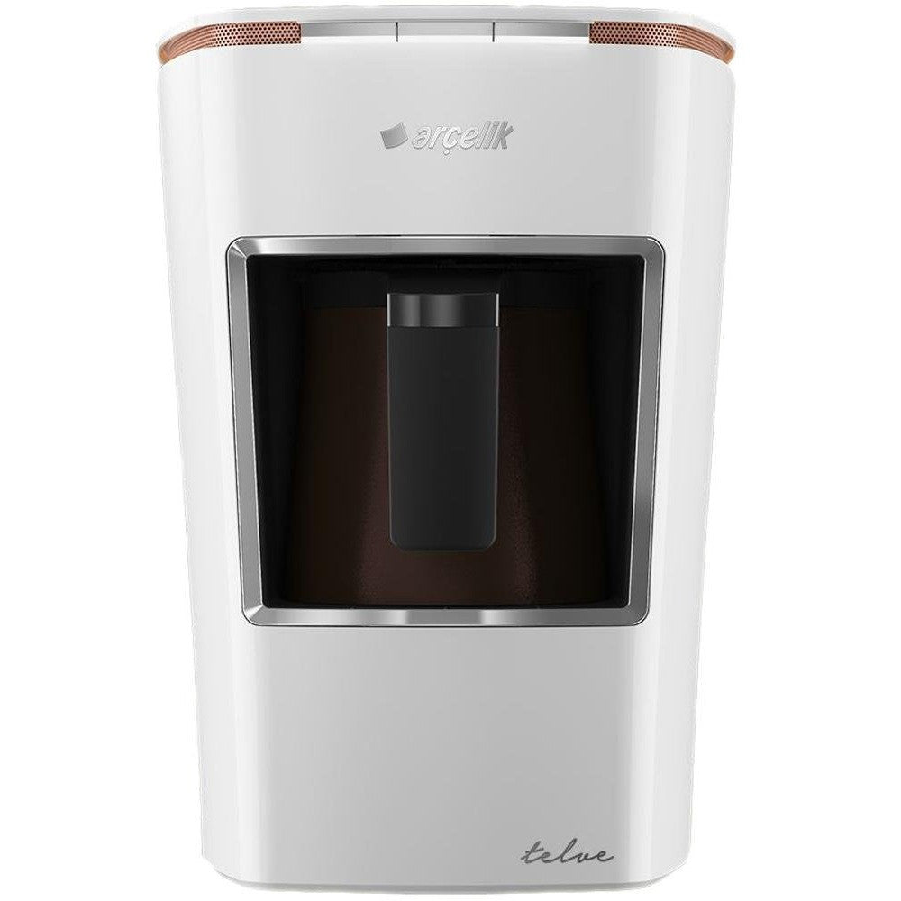 Arcelik K 3400 Telve Automatic Turkish Coffee Machine with Water Tank - White - Arcelik - Pazarska