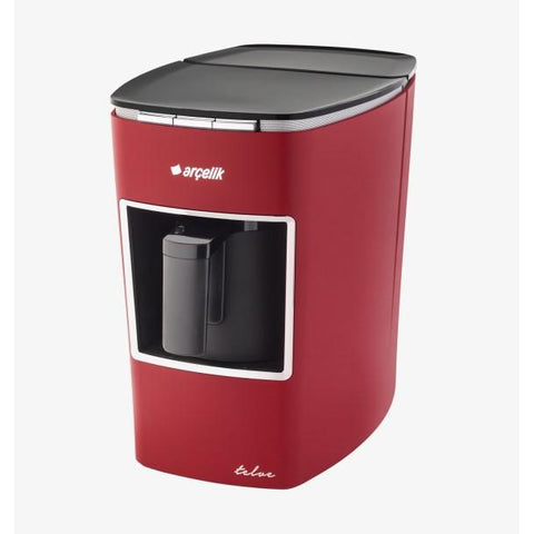 Arcelik K 3400 Telve Automatic Turkish Coffee Machine with Water Tank - Red - Arcelik - Pazarska