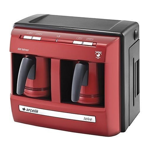 Arcelik K3190 P Lal Telve Red Automatic Turkish Coffee Machine - Double Pot - Arcelik - Pazarska