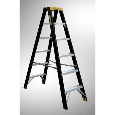Gorilla Double sided A-frame ladder 1.2m (4ft) 120kg Industrial Fibreglass