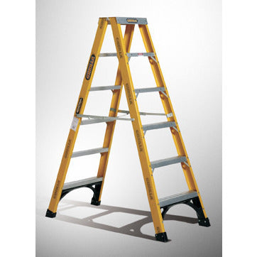 Gorilla Double sided A-frame ladder 2.4m (8ft) 150kg Industrial Fibreglass
