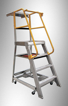 Gorilla Order picking ladder 1.2m (4ft) 200kg Industrial