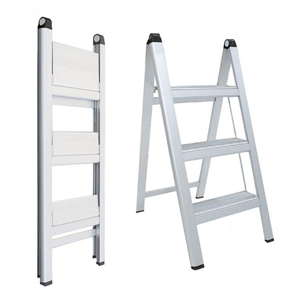 Indalex Domestic Aluminium Slimline Ladder 0.8m 3ft