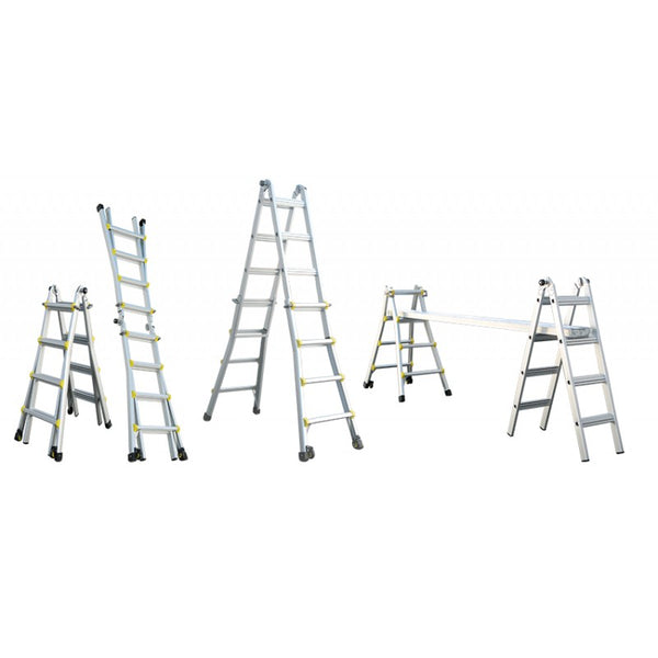 Indalex Pro Series Aluminium Telescopic Ladder 1m - 3m 11ft
