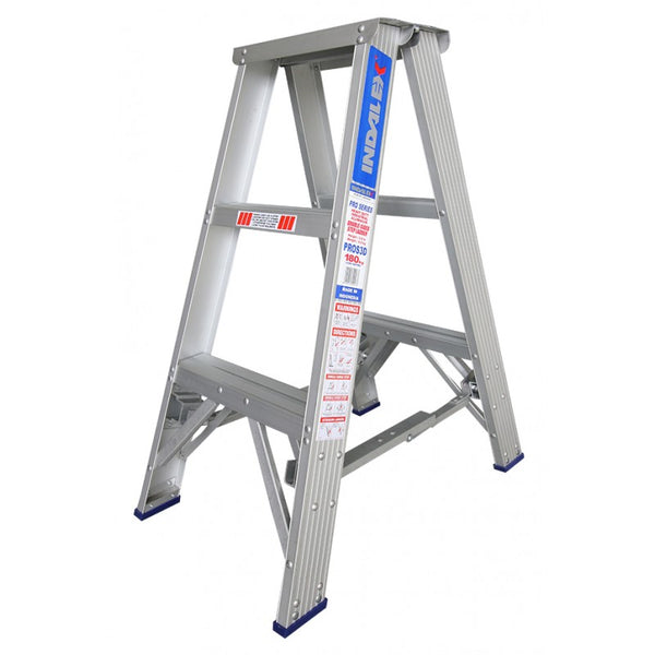 Indalex Pro Series Aluminium Double Sided Step Ladder 0.9m 3ft