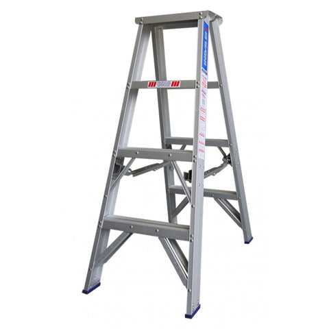 Indalex Pro Series Aluminium Double Sided Step Ladder 1.2m 4ft