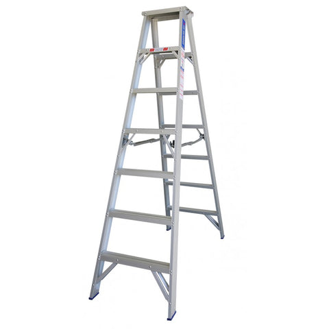 Indalex Pro Series Aluminium Double Sided Step Ladder 2.1m 7ft