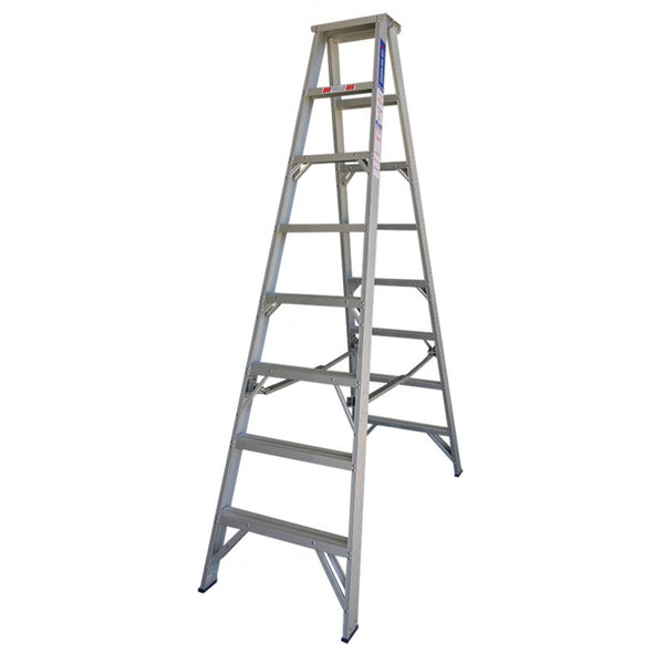 Indalex Pro Series Aluminium Double Sided Step Ladder 2.4m 8ft
