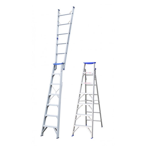 Indalex Pro Series Aluminium Dual Purpose Ladder 2.1m - 3.8m