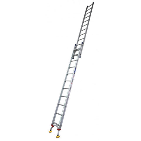 Indalex Pro Series Aluminium Extension Ladder 4.4m - 7.8m with Level-Arc