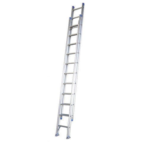 Indalex Pro Series Aluminium Extension Ladder 3.8m - 6.5m with Swivel Feet