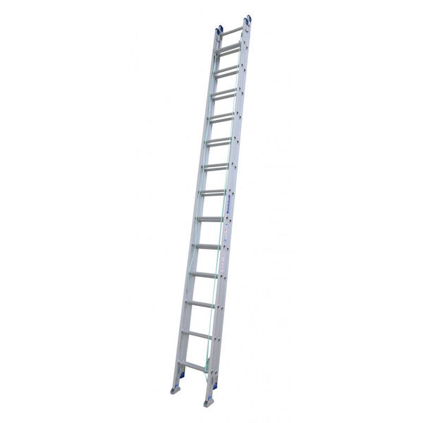 Indalex Pro Series Aluminium Extension Ladder 5m - 9m with Swivel Feet