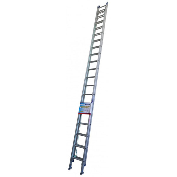 Indalex Pro Series Aluminium Extension Ladder 6.3m - 10.8m with Swivel Feet