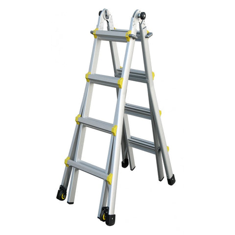 Indalex Pro Series Aluminium Telescopic Ladder 1.3m - 4.2m / 15ft
