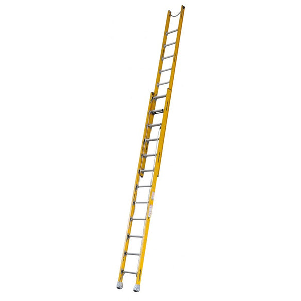 Indalex Pro-Series Fiberglass Extension Ladder 3.9m - 6.4m