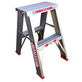 Indalex Tradesman Aluminium Double Sided Step Ladder 0.6m 2ft